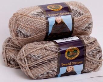 Lion Brand Tweed Stripes Caramel