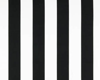 Black White Vertical Stripe Curtains - Rod Pocket Top - 84 96 108 or 120 Long by 24 or 50 Wide -