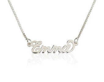 Tiny Name Necklace Personalized Necklace 925 Sterling Silver - Carrie Necklace