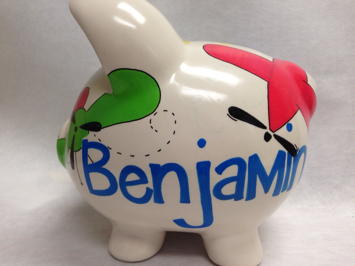 Personalized piggy bank on the move for Make your own piggy bank