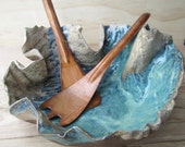 Pottery Stoneware Tree Textured Bark Bowl - made to order