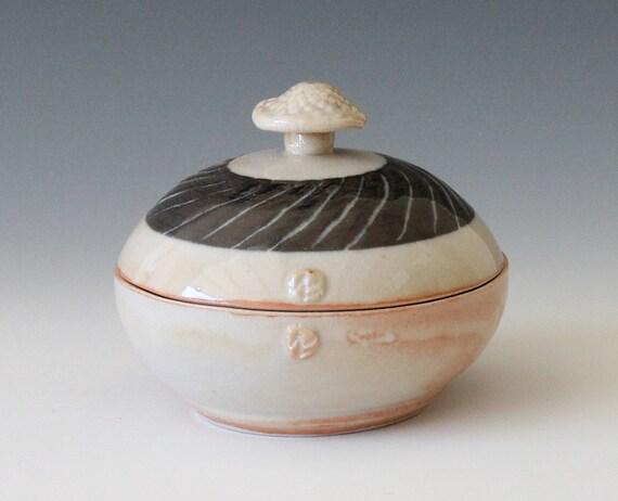 stoneware jewelry box ceramic jewelry jar stoneware by