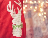 Deer Outline Shirt, Deer Outline Onesie, Christmas Shirt, Toddler Shirt, Christmas Gift, Boy Christmas Shirt