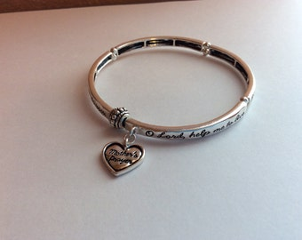 Mother's Prayer Stretch Bangle Bracelet, Inspirational, Spiritual