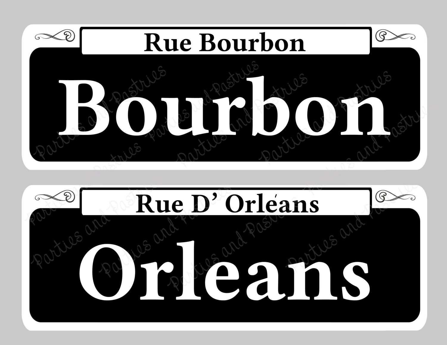 New Orleans Signs Instant Download Street Table Signs Set Of