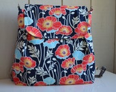 Backpack - Cross Body Convertible Purse - Made To Order - Joel Dewberry Sateen