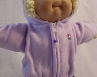 "16"" Girl Cabbage Patch Lavender Hooded Jacket"