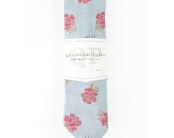 Rough Rose  - Skinny Tie - Wedding - Monogram - Groom
