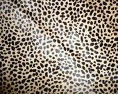 "Hair On Leather 12""x12"" MINI Wild Cheetah Creamy Camel Brown with Black Spots Animal HOH Cowhide PeggySueAlso™"