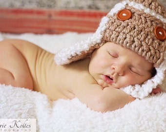 Aviator-Pilot Hat- Toddler- Newborn Photo Prop