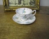 Beautiful fine Grosvenor Bone China Tea Cup and Saucer Made in England. TINKS