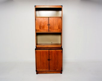 Mid Century Walnut Cabinet with Hutch by Drexel, Dove Tail Joints.