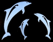 3 Blue Dolphin Die Cuts for Scrapbooking, Cardmaking, or Paper Crafts