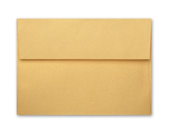 A7 Envelopes - Stardream Metallic Gold with Square Flap FREE SHIPPING