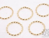 A317-01-G// Glossy Gold Plated Swirl Round Link, 6pcs