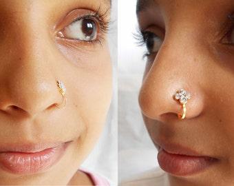 Fake Nose Ring Indian Style