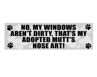 Nose Art Dog Sticker Decal