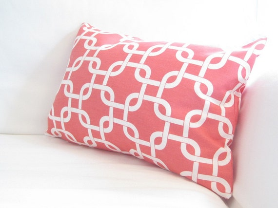 chair pillows 12x18 inch decorative pillow geometric pillow coral