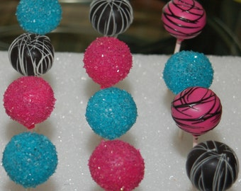 NEON Colors CAKE POPS (all colors available), Party Favors, Character Cake Pops, Bridal Shower Cake Pops, Wedding Favors