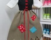 Vintage Used Cinderella Blythe Designer Dress Licca fits Skipper Momoko