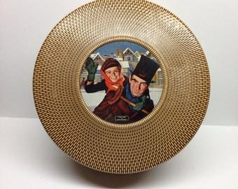 Biscuit Tin Douglass Crockwell Vintage Biscuit Tin Tiny Tim