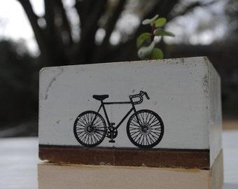 Bike Cube Concrete Planter