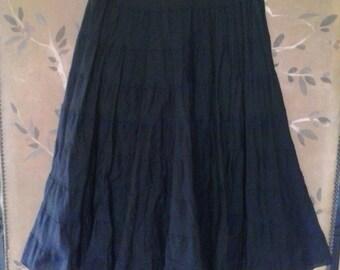 Black tiered gypsy skirt