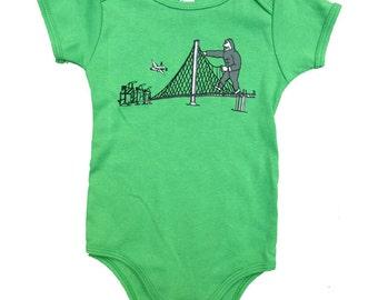 Infant Green King Kong Onesie