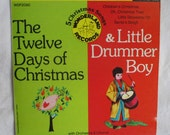 1966 Christmas Songs Record, 45 rpm, The Twelve Days of Christmas, Little Drummer Boy