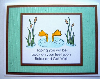 Duck under Water Get Well Card