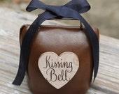 Wedding Kissing Bell Rustic Shabby Chic Custom Ribbon Color