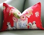 Brunschwig & Fils Gillian's Zebras 12 x 18 Inch Lumbar Cushion Pillow Cover