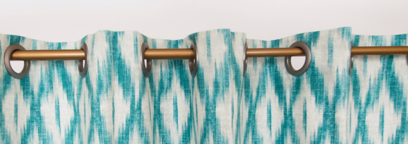 Items similar to Teal Curtains, Teal Window Curtains Drapes Panel Teal ...