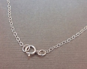 """5 chains - Chain Finished Necklace Sterling Silver .925 Cable Chain Spring Clasp 1.3mm 24"""" BULK 5 chains"""