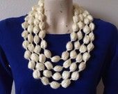 Infinity Bubble Puff Stitch Scarf Necklace
