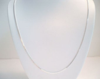 "925 sterling silver 18"" 2mm curb chain necklace"