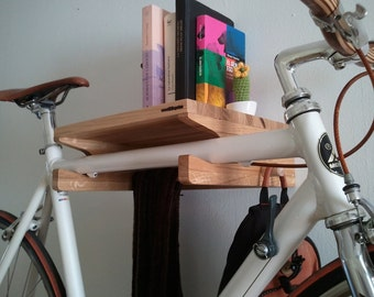 Levit-1 - oak wood wall bicycle stand