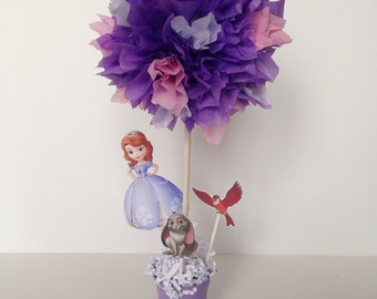 Sofia the first birthday party decoration, centerpiece, centerpieces, Sophia the first