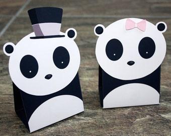 Panda Gift Box A4 Digital Download Birthday Wedding Favour box