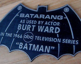 Custom 1966 ROBIN Batarang Display Name Plate BATMAN TV Series