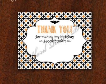 Coordinating Halloween Thank You Notes!! Thank You Card! Printable Thank You DIY 5.5 x 4.25