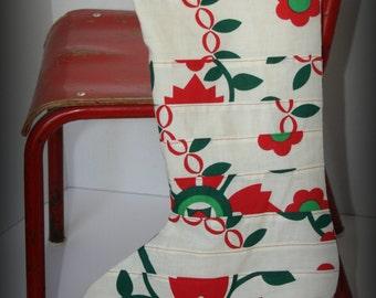 Christmas Stocking Vintage Print