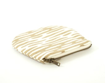 Eco Friendly Screen Printed Zipper Coin Pouch -