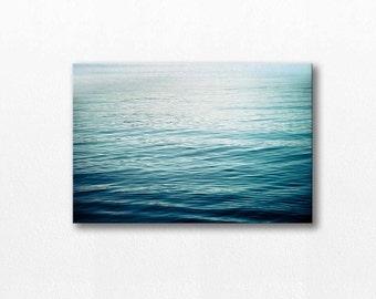 ocean canvas wrap beach canvas nautical decor 12x12 24x36 beach photography canvas print ocean photography canvas large art water ripples