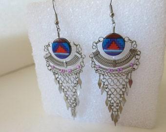Earrings, Southwest Earrings, Dangle Earrings,Pierced Earrings