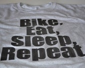 Cycling T shirt Bike eat sleep bicycle cyclist cycle tshirt women men teen ladies cycling shirt funny grey tee gift for husband boyfriend