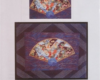 EASTERN FOLDS #3 ORIGAMI Fan  Applique Quilt Pattern