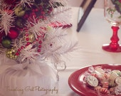 Christmas photography home decor holiday dining table lights white red green candy glitter bokeh kitchen photography fine art photo wall art