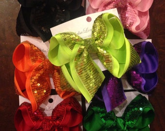 Sequin hairbows large size