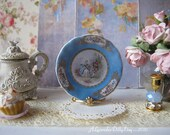 Blue Sevres Greetings Dollhouse Plate